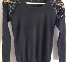 Duži džemper sa čipkom