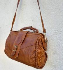 Retro kozna torba