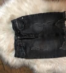 teksas suknja siva