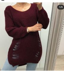 Bordo predivni džemperić