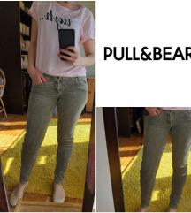 Somotske pantalone zelene Pull and Bear vel. M/L