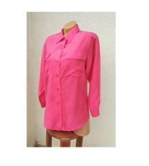 Vintage pink svilena kosulja (100% svila)
