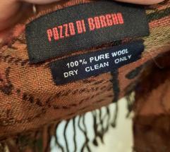 ❤Pozzo Di Borgho šal 100,/.pure wool ❤