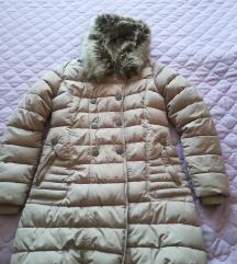 Duga jakna sa kapuljacom i krznom