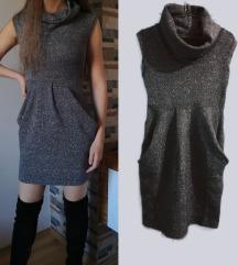 Prsluk haljina srebrna S