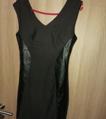Crna svečana haljina uz telo L