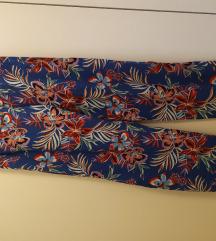 letnje lagane zenske cvetne pantalone vintage