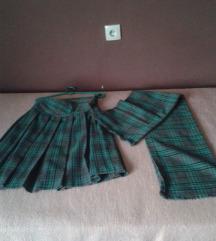 Skotska suknja sa karnerima + poklon sal