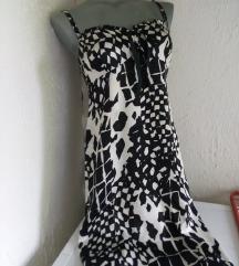 AMC crno bela haljina M
