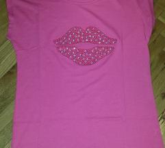 Roze majica na kratak rukav ***SJAJNA CENA***