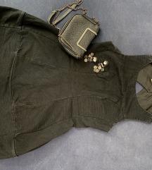 Crna TopShop mini haljina Vintage
