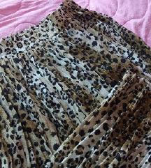 Leopard print plisirana midi NOVA