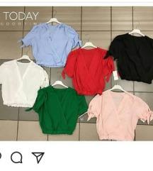 Plava crop majica