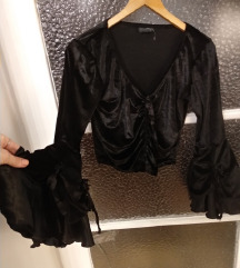 【rez】SINISTER raskosna plisana gothic bluza S/M