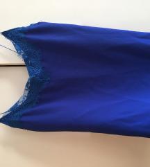 Plava svilena bluza