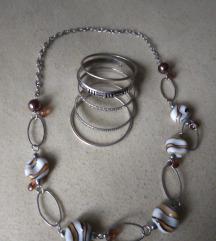 Set-pet narukvica+ogrlica