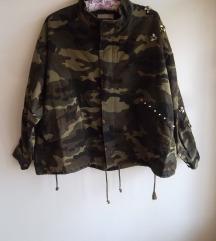H&M oversized jakna sa nitnama i kristalima, NoVo