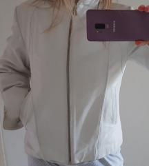 Bela kožna jakna SNIZENO 3500