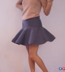 Zara nova siva suknjica S/M
