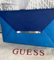 Guess original  plava pismo torbica rez