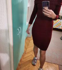 Dzemper haljina Bordo