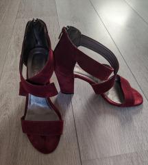 Kozne bordo sandale 39