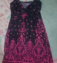 Crno roze LETNJA cvetni dezen nova haljina