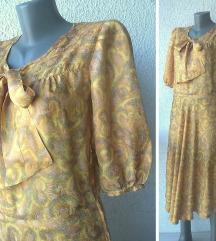 haljina svilena vintage broj XS
