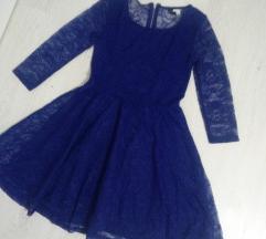 H&M cipkana plava haljina novo