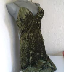 Nova F-18 zelena plisana haljina S