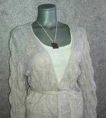 H&M džemper, srebrni