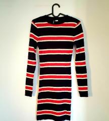 H&M dzemper haljina na pruge