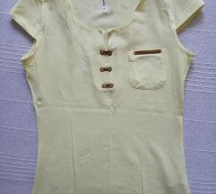 Pastelno žuta majica kratkih rukava