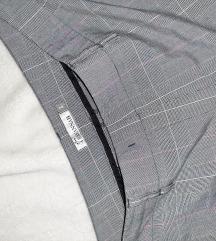 Karirane, ravne pantalone