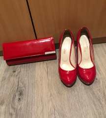 Crvene cipele + torbica
