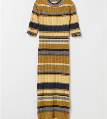 Nova H&M uska haljina uz telo na pruge