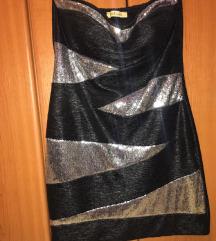 Haljina crna sa srebrnim :)