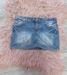 Suknja teksas kao nova,identicna fotografijama