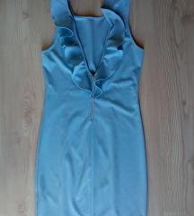 Plava haljina sa karnerom S