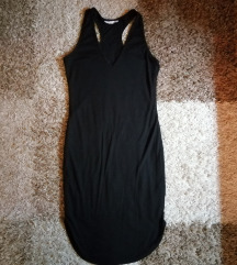 H&M crna midi haljina