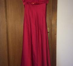 Duga crvena haljina SNIZENJE 2000