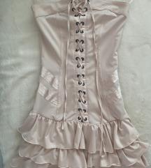 Bež haljinica kratka SNIZENO