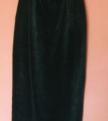 Crna pliš suknja C&A