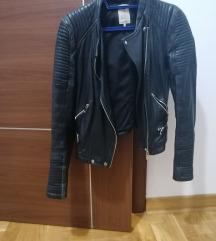 Zara kožna jakna, L