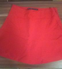 Zara crvena suknja XS savršena za izlazak