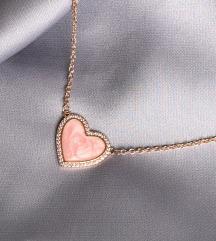Pandora rosegold lancic roze srce
