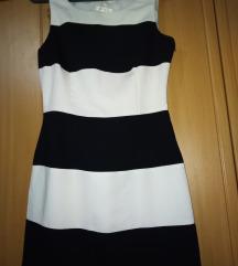 Crno bela haljina nova