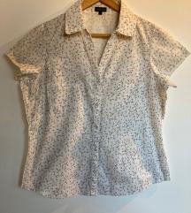 Bela košulja sa dezenom grančice