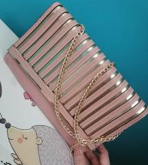 Manja zlatno roze torbica novo