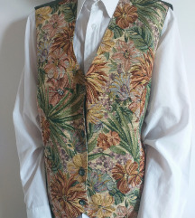 Vintage cvetni prsluk